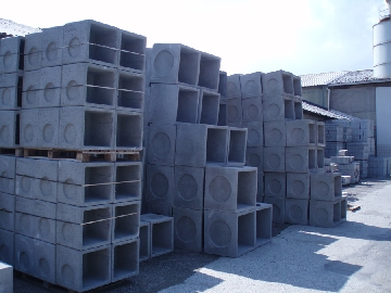 Anelli in cemento quadrati